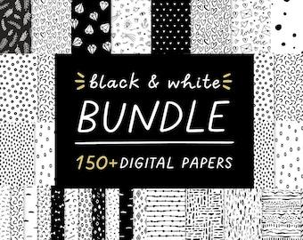 Hand Drawn Design Elements Bundle, Doodle Clipart, Commercial Use