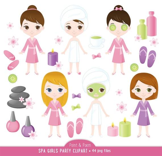 Wellness clipart  Wellness-ClipArt Spa Mädchen Clipart süßen Spa Mädchen Spa   Etsy