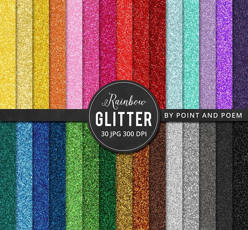 Glitter Digital Paper digital paper Rainbow Glitter Colorful image 0