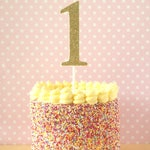 """Large glitter number cake topper - cake smash props - 1st birthday - wedding table centrepieces - giant 4 inch (4"""") - gold, pink, 2, 3, 4, 5"""