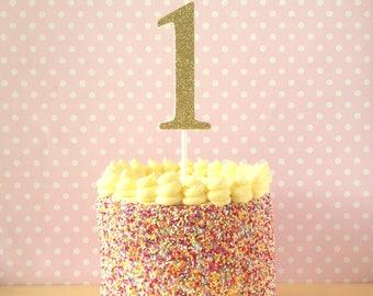 Large Glitter Number Cake Topper