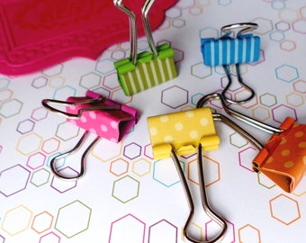 Binder clips. Cute mini coloured foldback clips that are great for going back to school with or as a gift for a teacher