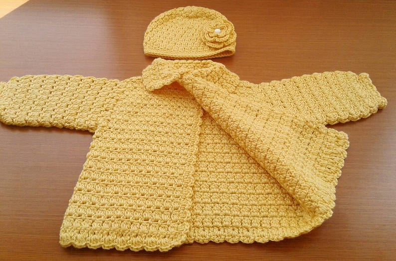 12 to 18 Month Crochet Baby Sweater