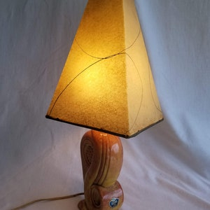 Beige Tan Glazed Ceramic with Brown /& White Speckles 1960s Lighting Danish Modern Style Vintage Mid Century Speckled Ceramic Table Lamp