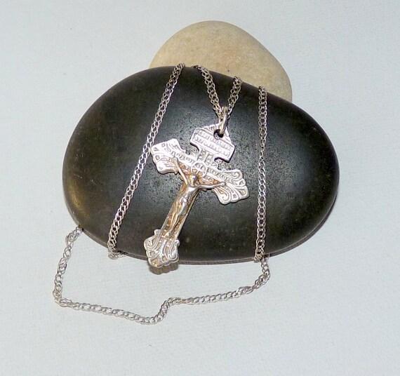 Sterling Silver Antiqued Saddle Pendant
