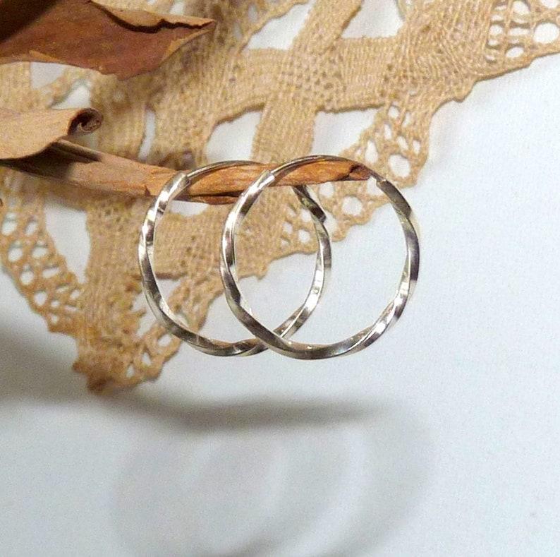 Petite Silver Swirl Dangle Hoop 925 Sterling Silver Hoop Jewelry Sterling Silver Swirl Hoop Earrings 34 925 Twisted Hoop Earrings