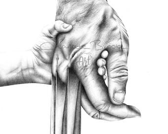 Logan (Wolverine) Pencil Drawing Print