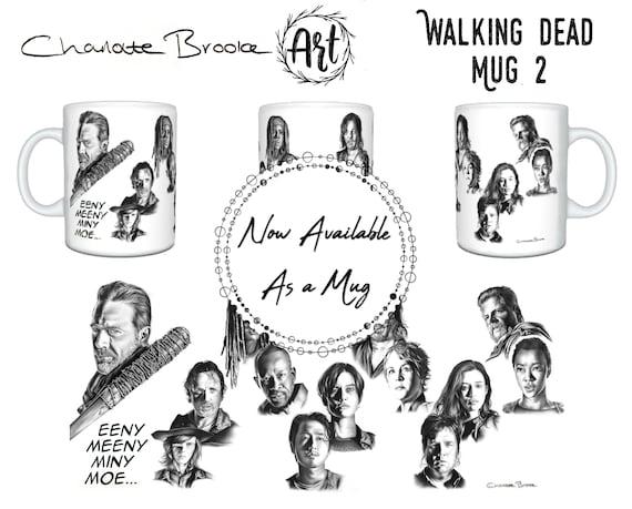 ARTWORK PENCIL THE WALKING DEAD GLENN DRAWING PRINT GRAPHITE ORIGINAL ART
