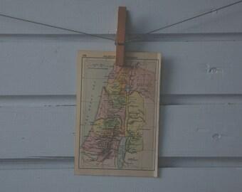 1910's Vintage Map of Israel - Old Testament
