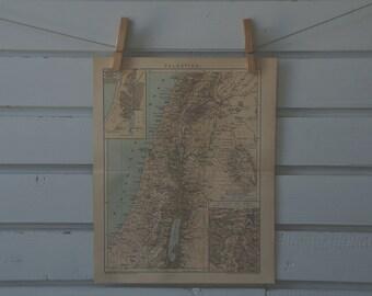 1894 Vintage Map of Israel
