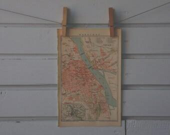 1894 Vintage Warsaw Map