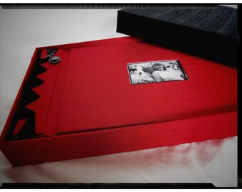 Small handmade boxed photo album