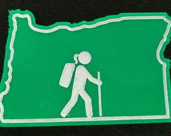 Oregon Hiking Woman Magnet