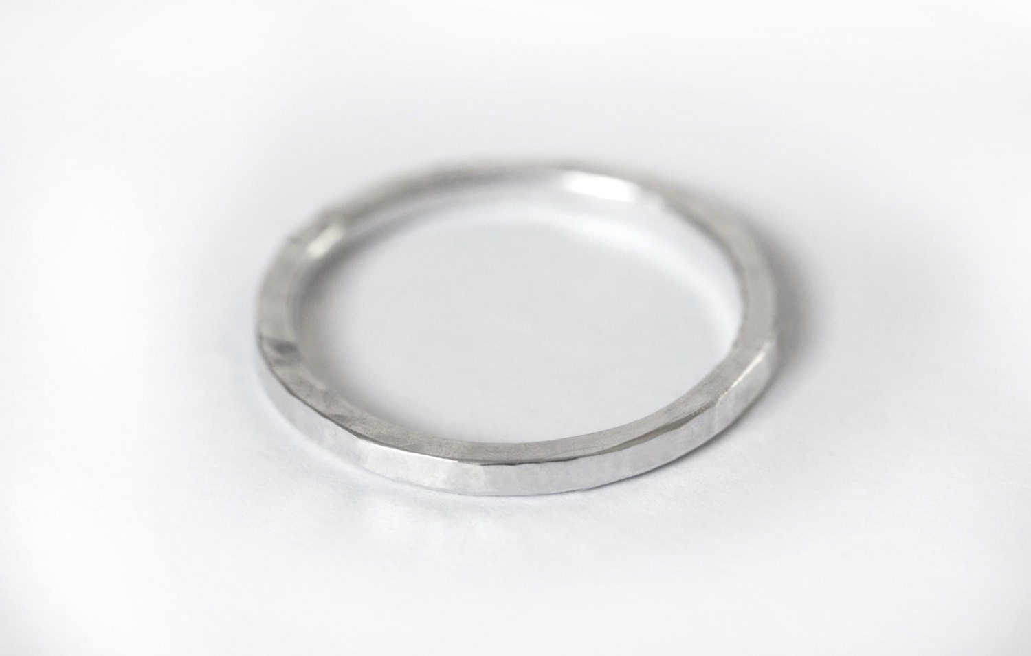 5966eb49afb96 Sterling Silver Stacking Ring, Hammered Silver Ring, Tiny stacking ...