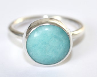 Turquoise Ring, Turquoise Silver Ring, Amazonite Ring, Turquoise Jewellery, Turquoise Jewelry, Turquoise and silver ring, Boho Ring, Boho