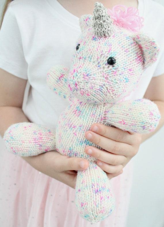 Unicorn Knitting Pattern Childrens Knitted Toy PDF Pattern ...