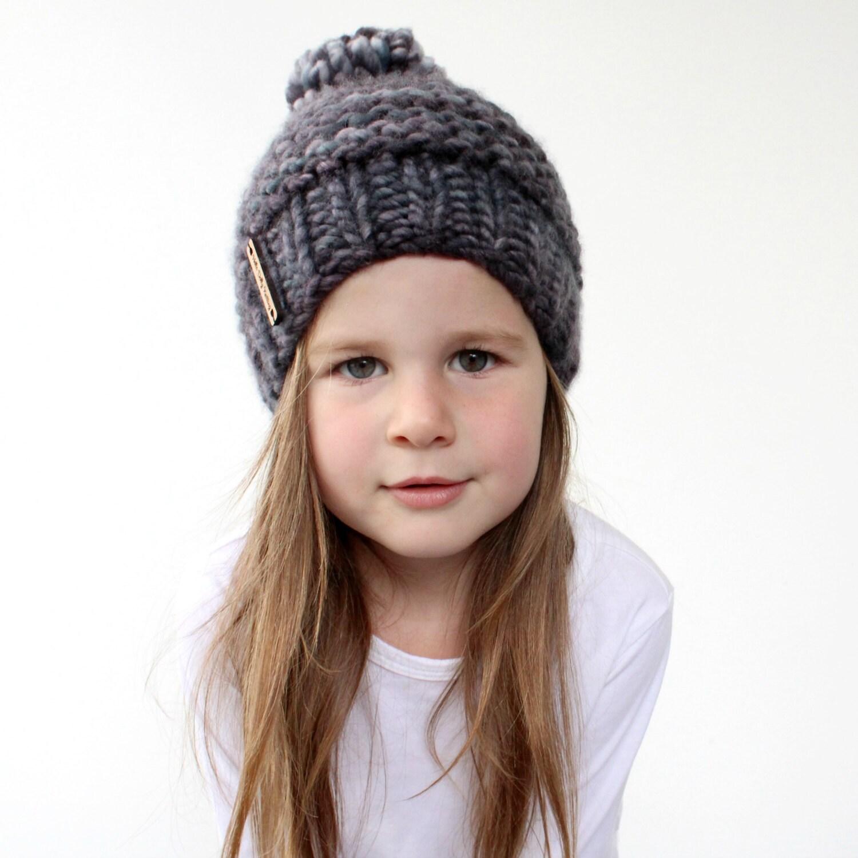 Chunky Knit Hat Pattern - PDF Knitting Pattern, Super Bulky Beanie ...