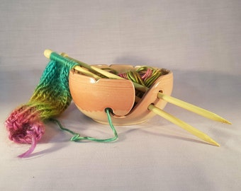 Handmade Ceramic Yarn Bowl, Yarn Bowl, Knitting Bowl