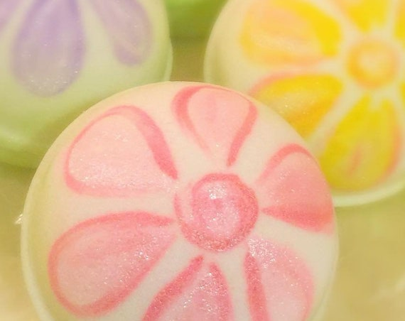 Hand Painted Floral Bath Bombs