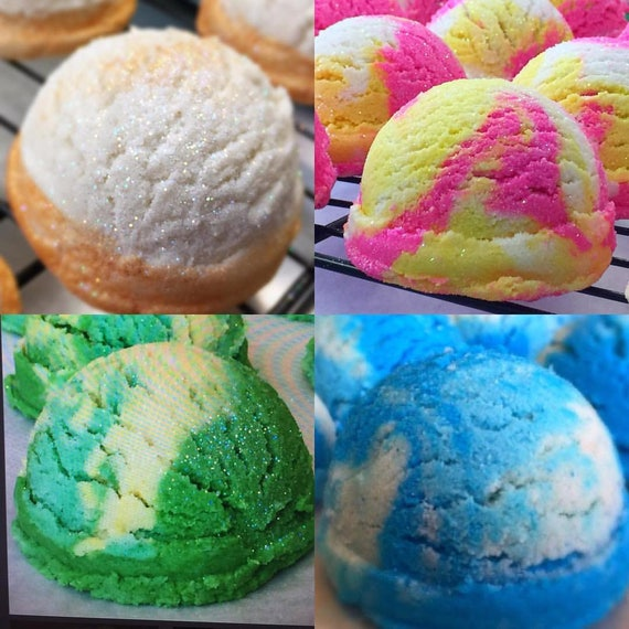 VEGAN (4) Sorbet Bath Truffles / Ice Cream Scoops