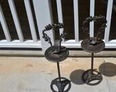 18th Century Iron Candlesticks