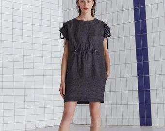 a33caa939f9 Short linen dress