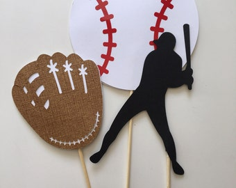 Baseball Centerpiece Inserts - Baseball Party - Baseball Banquet - Take me Out to the Ball Game