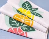Louisiana Citrus Flour Sack Towels - Set of Three