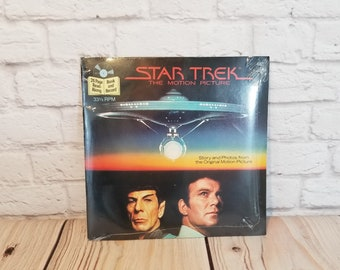 Vintage Star Trek Motion Picture Book and Record Set 33 1/3 RPM Unopened