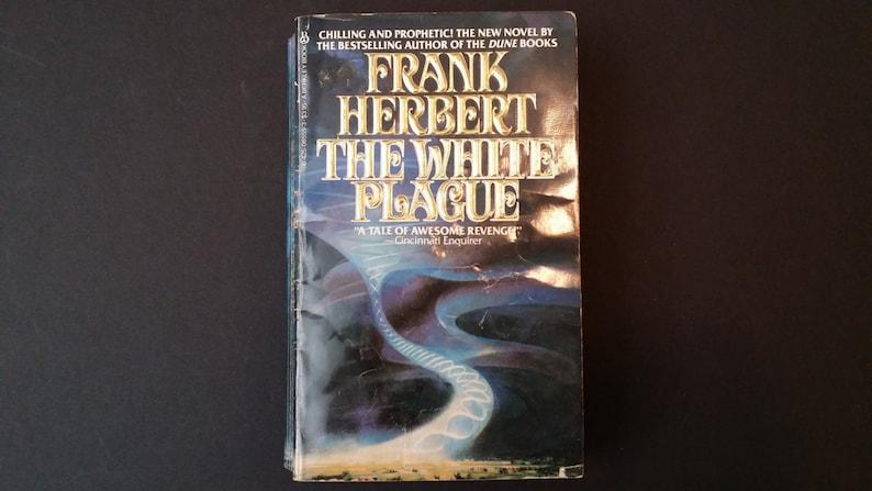 Vintage The White Plague Paperback Frank Herbert 1983 Berkley Book Epic  Political Science Fiction Literature