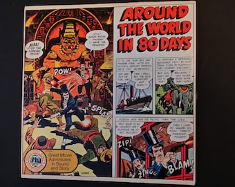 Around the World in 80 Days Great Movie Adventures in Sound and Story Record Wonderland Records 1974 AA Records Jules Verne