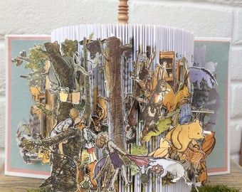 Stories from 'Winnie the Pooh' brought to life. A unique book sculpture for young and old