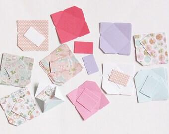 Mini envelopes x20 embellishment pack