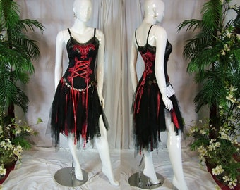 f80b4f408dae Shabby steampunk renaissance medieval pagan bohemian sexy risque tattered  one of a kind wedding dress
