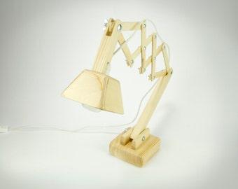 Handmade wooden table lamp DL011