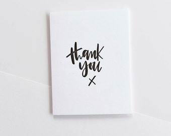 thank you x-- letterpress thank you card