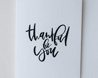 thankful for you-- letterpress thank you card