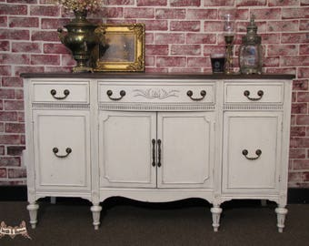Merveilleux SOLD **** Farmhouse Buffet, Shabby Chic Buffet/ Sideboard, Entryway Piece,  Cottage Chic, Painted, Country Cottage
