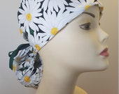 Surgical Cap ponytail stile-Daisy Season -cotton 100