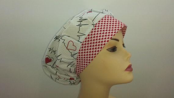 6111f067437 Women's surgical scrub hats or scrub caps EKG & | Etsy