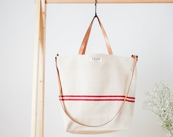 TOTE BAG Bag in red line