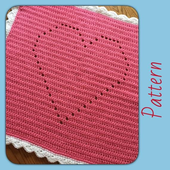 Easy Crochet Blanket Pattern Easy Crochet Pattern Crochet Etsy