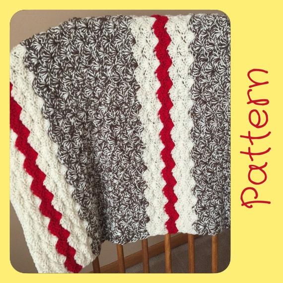 Sock Monkey Baby Blanket Crochet Pattern Crochet Blanket