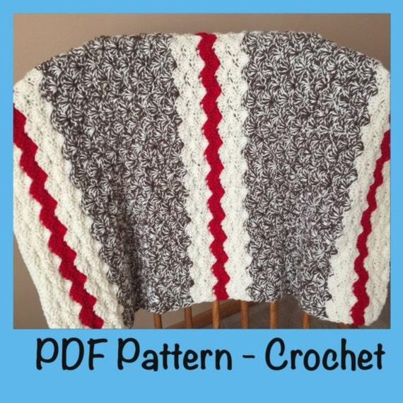 Sock Monkey Baby Blanket Crochet Pattern Crochet Blanket Etsy