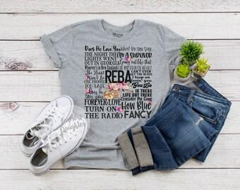 07c63c75858 Reba Songs Concert Fan T-Shirt