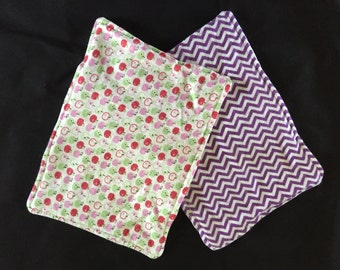 Flannel burp cloths (small)