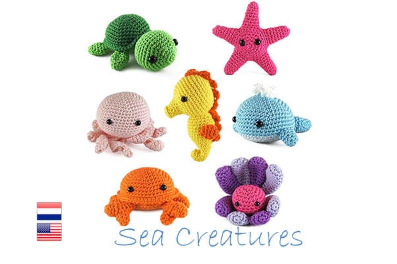 Crochet pattern for beginners Sea Creatures Amigurumi