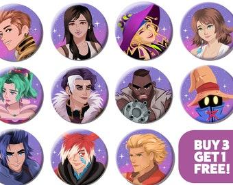 Final Fantasy - Character Badges - 58mm