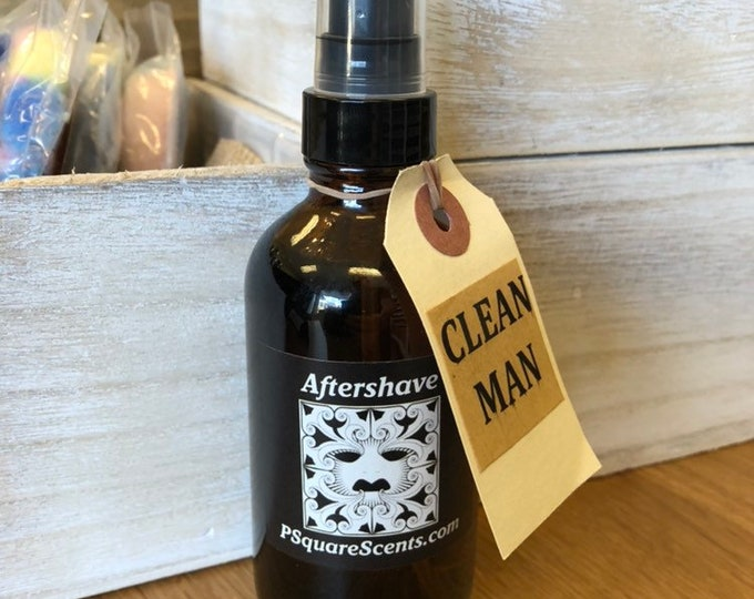 Featured listing image: Aftershave, Men's Skin Care, 4oz, Toner, Shaving, Grooming, Personal Care, Shave Tonic, Bay Rum, Dirt, Grass, Camp Fire, Pick Your Fragrance
