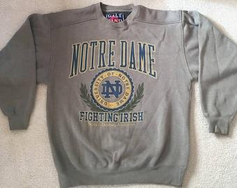 Vintage Notre Dame Sweatshirt - Galt Sand, Medium